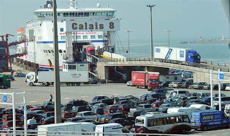 calais ferry port calais increase in security has lead to three hour waits