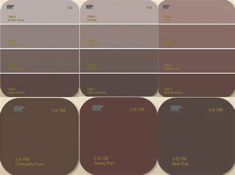 Brown Paint Colors | living with color behr brown shades painting pinterest