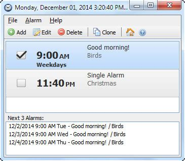 free alarm clock 4 0 1 free freewarefiles desktop category