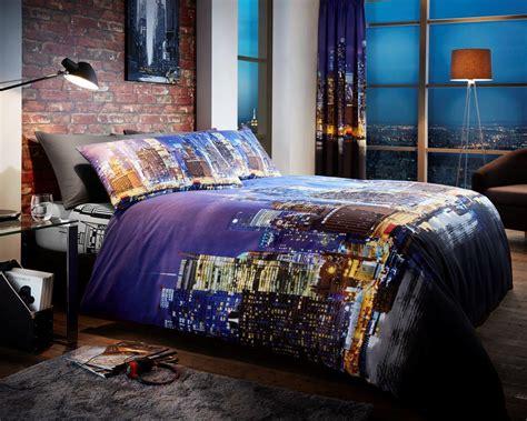nyc comforter set newyork night life modern printed duvet set multi