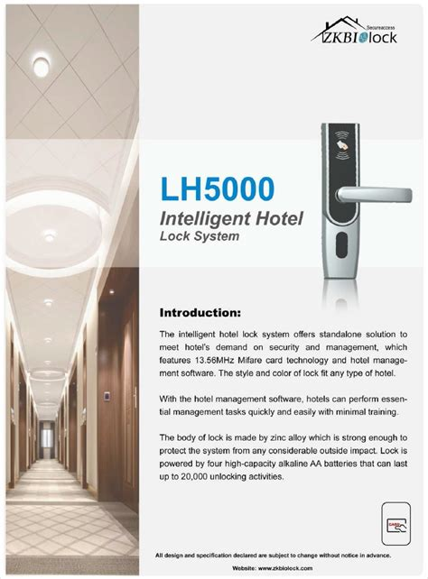 lh5000 intelligent hotel lock system smart lock chennai