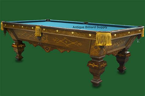 brunswick masterpiece pool table antique billiard supply ornate brunswick pool table
