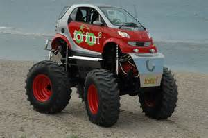 Wheels Truck And Cer Smart Car Turned Truck Offroad Monsters