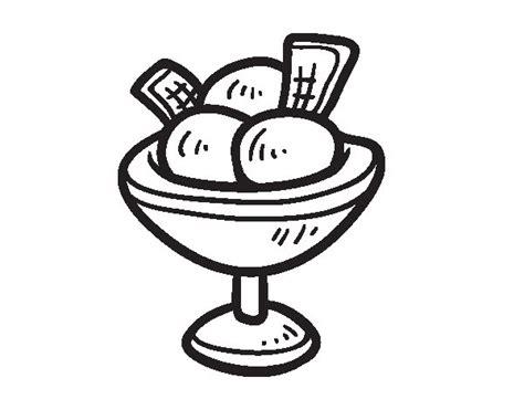 imagenes de helados kawaii para colorear dibujo de copa con tres bolas de helado para colorear