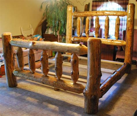 log beds king size pinterest