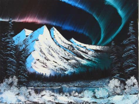 bob ross paintings northern lights landscape paintings landscape painting classes