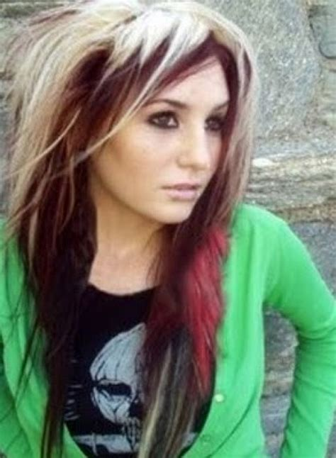 hairstyles blonde on top red underneath white blonde hair with dark red underneath design 293x400