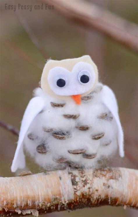 Tippytoe Crafts Pine Cone Snowy Owls - best 25 pinecone owls ideas on owl ornament