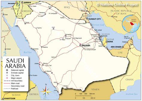 political map of saudi arabia political map of saudi arabia nations project