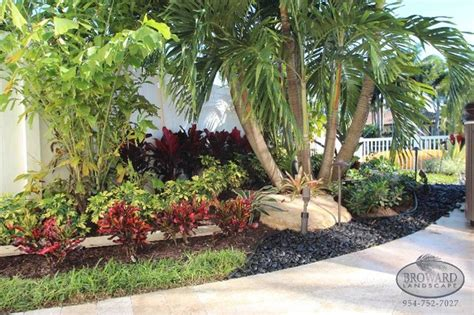 front yard landscape tropical landscape miami by broward landscape inc