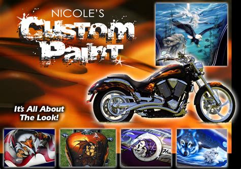 custom motorcycle paint custom painting airbrushing