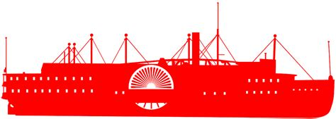 steamboat vector steamboat silhouette free vector silhouettes