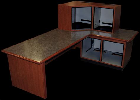 Production Desk by Designcraft Radio Production Furniture Lr 4 Production Desk