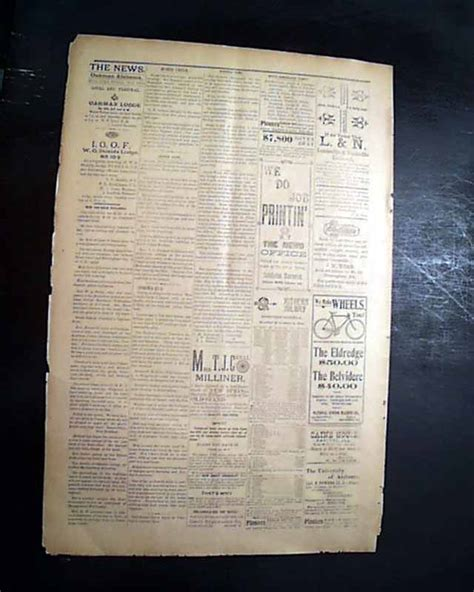 19th Century U S Newspapers 19th Century Oakman Walker County Alabama 1898 Newspaper