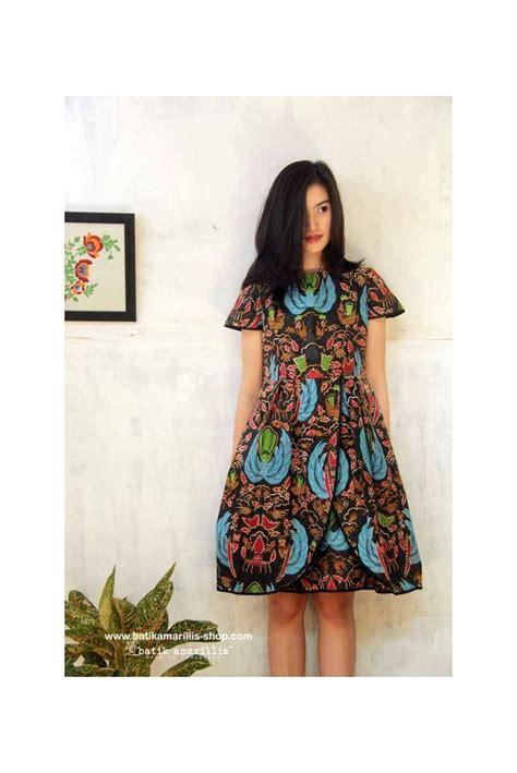 Batik Songket Black Navy batik amarillis s blooming dress plus size summer
