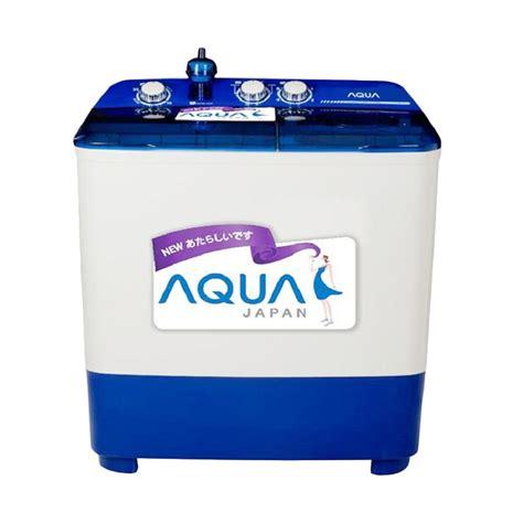 Mesin Cuci Aqua Qw 871xt jual aqua qw880xt mesin cuci putih biru 2 tabung