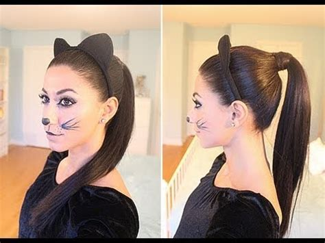 how to do halloween hairstyles kitty cat halloween hair youtube