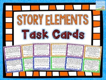 character trading cards template 3rd grade story elements task cards by teaching with a mountain view