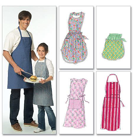 sewing a men s apron m5551 misses men s children s boys girls aprons