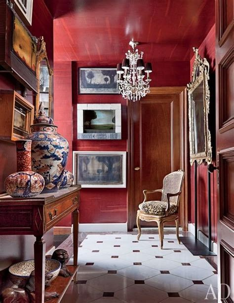 interior design red walls red room inspiration the collected room by kathryn greeley