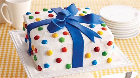 birthday present cake recipe bettycrockercom