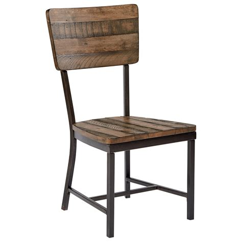 Rustic Industrial Dining Chairs Magnolia Home By Joanna Gaines Industrial Rustic Side Chair Johnny Janosik Dining Side Chairs