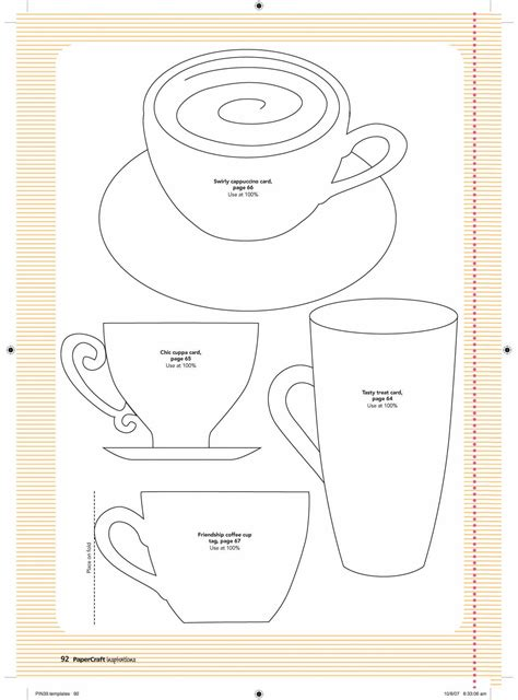 printable krus cards paper cup template http www pinterest com