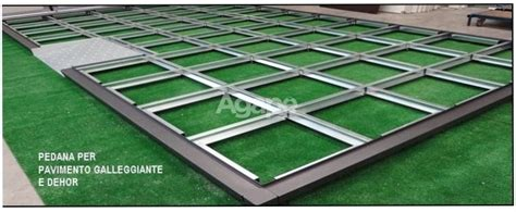 pedane modulari pedana modulare acciaio agap 232 forniture