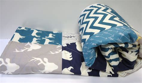 Modern Baby Boy Bedding by Modern Baby Quiltbirch Gallery Fabric Baby Boy Bedding