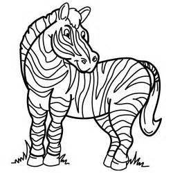 Zebra Outline Coloring Page by Coloriage De Z 195 168 Bre