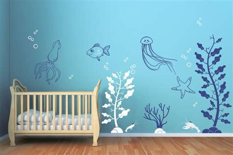 underwater wall stickers underwater wall decals contemporary wall decals