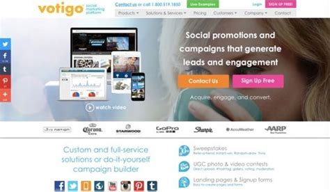 Votigo Sweepstakes - 11 platforms for social media contests practical ecommerce