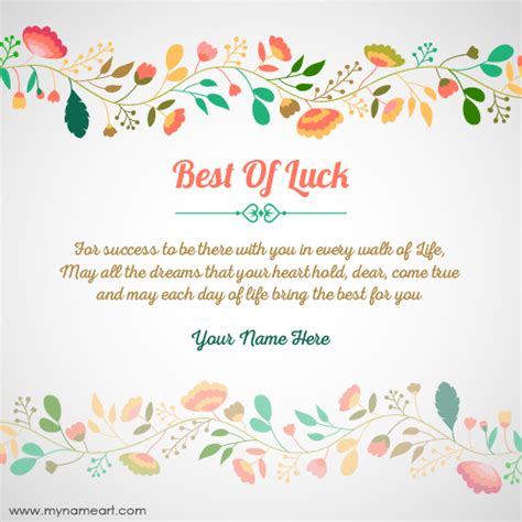 free printable luck card template create best of luck for card with name wishes
