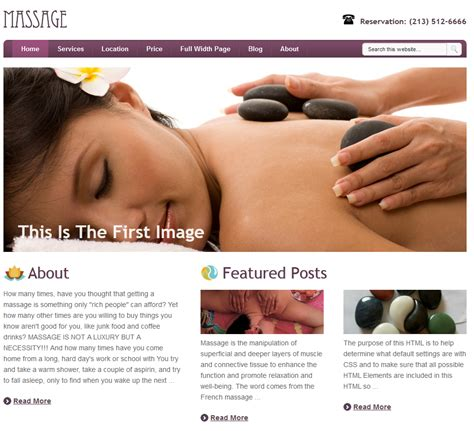 wordpress themes free massage massage wordpress theme for spa businesses practical wp
