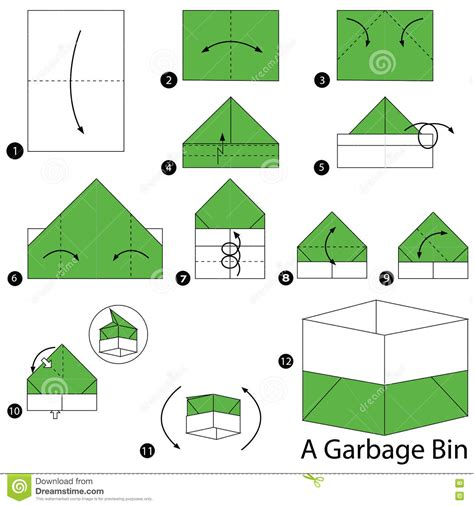 Steps To Make Paper - step by step how to make origami a garbage