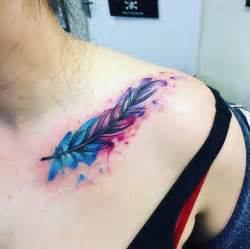 watercolor tattoos in la best 25 watercolor feather tattoos ideas on