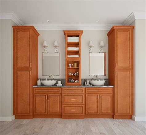 assembled bathroom cabinets regency spiced glaze pre assembled bathroom vanities the