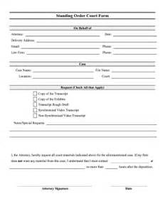 court pleading template printable court standing order form pleading template