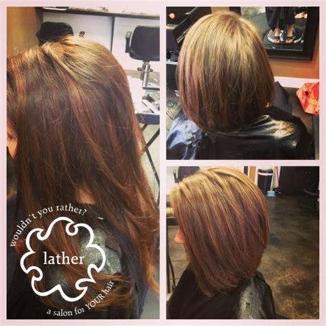 makeover hair styles bob bangs from long brunette hair to a long bob haircut short hair