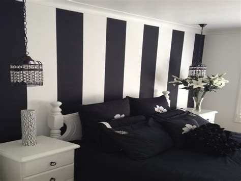 black painted room bedroom design bedroom great white and black striped wall