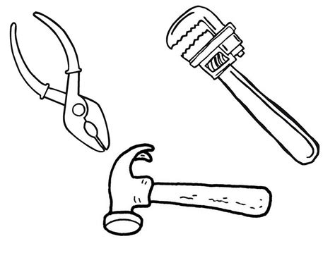 Construction Tools Coloring Pages Getcoloringpages Com Tools Colouring Pages