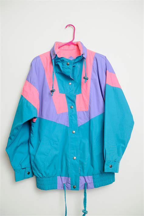Try A Brightly Coloured Jacket For by Vintage 80s 90s Bright Colored 90s Ski Vibes Color Block