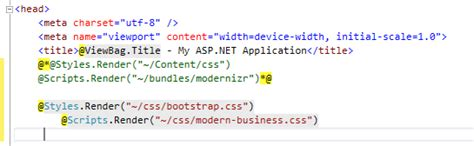 bootstrap templates for asp net c customizing asp net mvc bootstrap templates