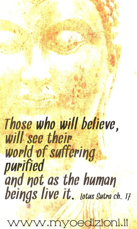 reclining lotus sutra buddhist quote quot those who will believe will see their