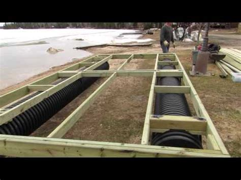 diy wooden pontoons how to build a dock with dock pontoons youtube