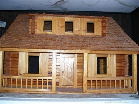 Handmade Log Cabin - my dollhouse handmade log cabin