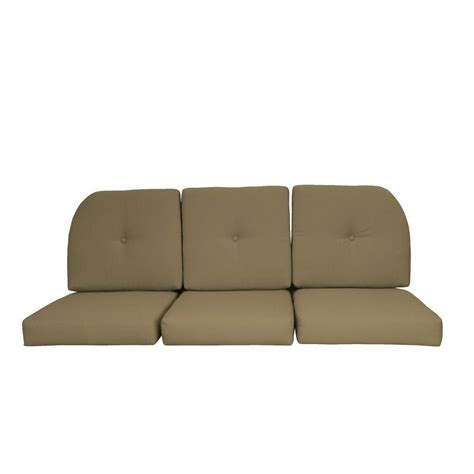 settee cushion set paradise cushions sunbrella sand 6 piece wicker outdoor