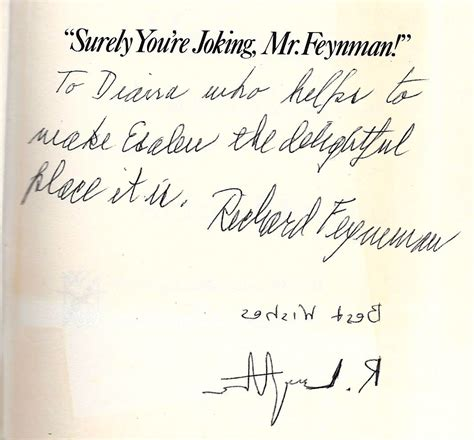 signed books richard p feynman signed book at mt tomes and