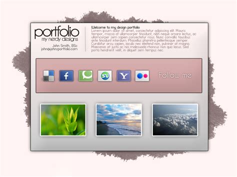 free template portfolio free psd portfolio template by perrysmith on deviantart
