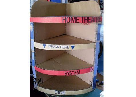 how to make your own cardboard bookshelf hometone home